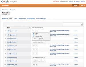 Gebruikers beheer Google Analytics